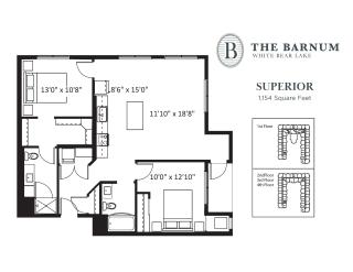 Superior Floor Plan at The Barnum, White Bear Lake, Minnesota