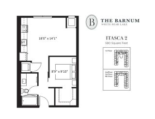 Itasca Floor Plan at The Barnum, Minnesota