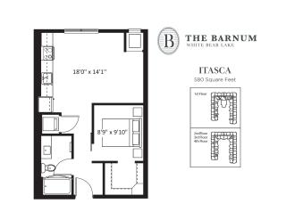 Itasca Floor Plan at The Barnum, White Bear Lake