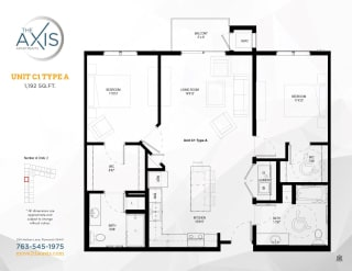 Unit C1 Type A Floorplan at The Axis