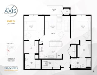 Unit C1 Floorplan at The Axis