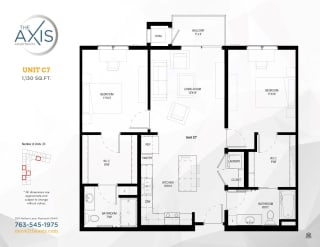 Unit C7 Floorplan at The Axis