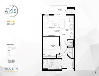 Unit S1 Floorplan at The Axis