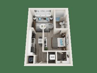 A1 Floor Plan at Link Apartments® Linden, Chapel Hill, NC, 27517