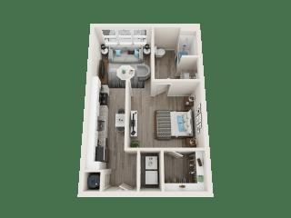 A1_A Floor Plan at Link Apartments® Linden, Chapel Hill, NC