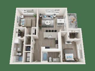 B2 Floor Plan at Link Apartments® Linden, North Carolina