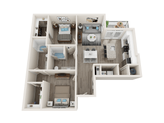 B3 Floor Plan at Link Apartments® Linden, North Carolina, 27517