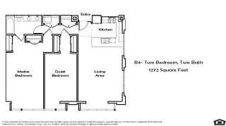 C1 3 Bed 2.5 Bath Floorplan at Pacific Place, Daly City, CA, 94014