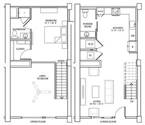 Floor Plan LW3 (Live Work Loft)