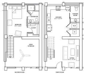 Floor Plan LW4 (Live Work Loft)