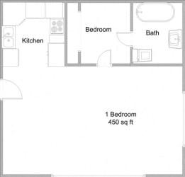 Floor Plan Junior One Bedroom One Bath