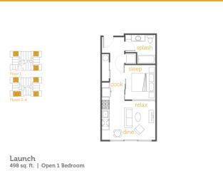 Floor Plan Launch - 1x1 Open