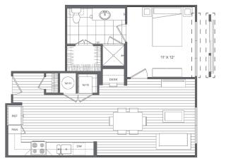 1E Floor Plan at Platt Park by Windsor, Denver