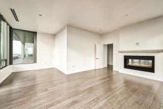 Apartment's fireplace at The Bravern, Washington, 98004