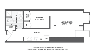 A1L floor plan at Jack Flats by Windsor, 1000 Stone Place, 02176