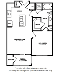 A3(1) floor plan at Windsor Burnet, Texas, 78758