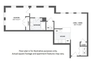 A9(6) floor plan at Jack Flats by Windsor, Melrose, MA