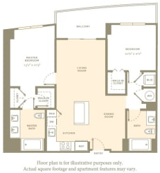 B2 Floor Plan at Aaray Las Olas in Fort Lauderdale, FL