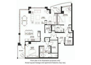 B27 South floor plan at The Bravern, WA, 98004