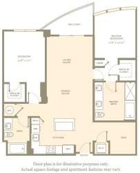 B5 Floor Plan at Amaray Las Olas by Windsor, FL, 33301