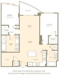 B5c Floor Plan at Amaray Las Olas by Windsor, Fort Lauderdale, Florida