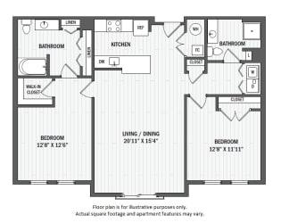 B7(4) floor plan at Jack Flats by Windsor, Melrose, MA
