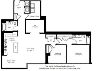 B8 Floor Plan at 7770 Norfolk, Bethesda