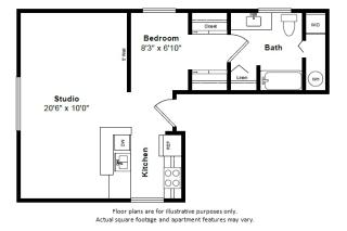 Bali floor plan at Tera Apartments, Kirkland, Washington