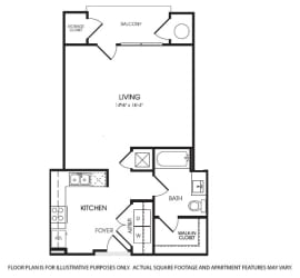 Belle Claire floor plan at The Manhattan Tower and Lofts, Denver, Colorado