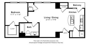 Holland floor plan at The Manhattan Tower and Lofts, Denver, Colorado