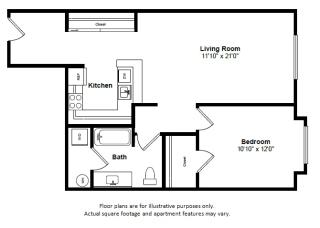 Key Largo floor plan at Tera Apartments, Kirkland, WA