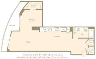S1 Floor Plan at Amaray Los Olas, FL, 33301