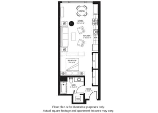 S4 North floor plan at The Bravern, WA, 98004