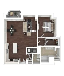 A13 floor plan at The Woodley, Washington, DC