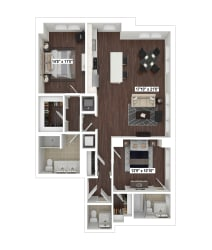 B4(5) floor plan at The Woodley, 2700 Woodley Road, NW, Washington, DC