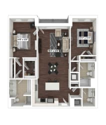 B6(2) floor plan at The Woodley, 2700 Woodley Road, NW, 20008
