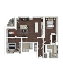 B10 floor plan at The Woodley, 2700 Woodley Road, NW, 20008
