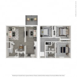 Floor Plan 3B TH-Renovated