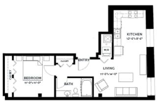 Floor Plan Lofts - A1