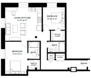 Floor Plan Timber 7 (Lofts)