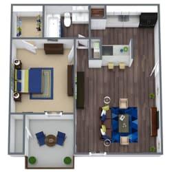 Garden Ridge Floor Plan 1x1
