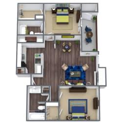 Rio Grand Floor Plan 2x2