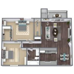 B1 Floor Plan 2x1