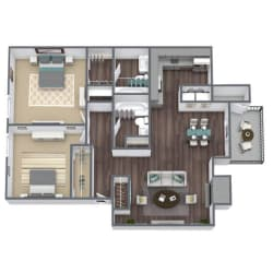 B2 Floor Plan 2x2