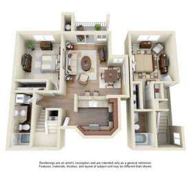 2 BED 2 BATH - B3R floorplan