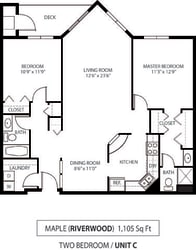 The Riverwood Apartments in Lilydale, MN 2 Bedroom 2 Bath