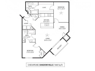 Shadow Hills Apartments in Plymouth, MN 2 Bedroom 2 Bath, opens a dialog