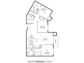 Shadow Hills Apartments in Plymouth, MN 3 Bedroom 2 Bath, opens a dialog