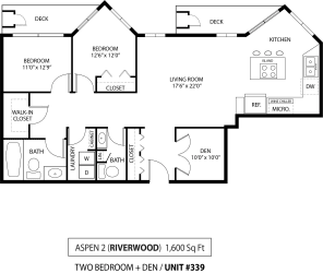 Floor Plan Aspen II 2 Den