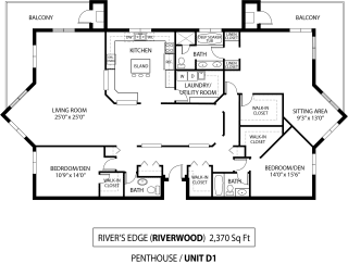 Floor Plan Rivers Edge Penthouse